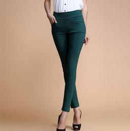 Wholesale Ladies Candy Color Pants - Wholesale- New 2017 Women Jeans Fashion Candy Color Skinny Pants low waist 4 Pockets Cotton Trousers Fit Lady Jeans Women Pants M-XL A0150