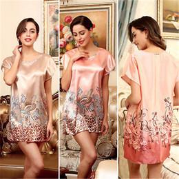 Wholesale Hot Women Nightdress - Wholesale- Women Sexy Hot New Silk Underwear Lingerie Sleepwear Short Nightdress Robe