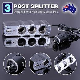 Wholesale Car Cigarette Socket Splitter - NEW 3 Way Port Splitter Car Charger Adapter Cigarette Lighter Socket