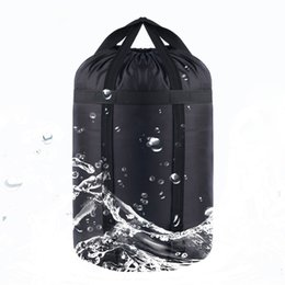 Wholesale Compression Bag Camping - Wholesale- Foldable Compression Sleeping Bag Storage Saving Bags Compressed For Air Sleep Bag Pillow For Camping Hiking Climbing Outdo