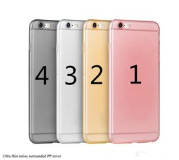 Wholesale Cover Bumper Iphone 5c - for iphone 5C ultra thin 0.3mm healthy PP material bumper cover clear case for iPhone 6S 6 7 7S Plus