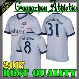 Wholesale Thailand Quality Soccer Uniforms - CHICAGO 2017 DE LEEUW FIRES CAMISETAS CUSTOMIZED SCHWEINSTEIGER soccer uniform soccer jerseys thai quality thailand quality football shirts