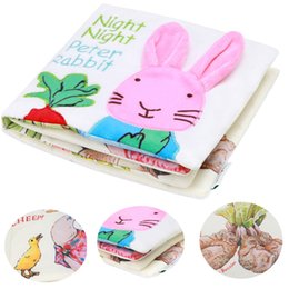 Wholesale Baby Toy Mobile - Wholesale- Peter Rabbit Baby Toys Soft Rattles Mobiles Cloth Fabric Rustle Book Infant Newborn Early Learning Educational Toys 0-12Months