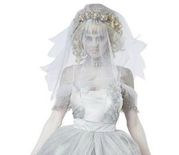 Wholesale Mummy Cosplay - White Dresses Ghost Baby Ghost Bride Movie Role Play Cosplay Mummy Art Costumes Scary White Zombie