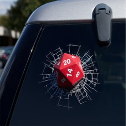 Wholesale Dice Funny - Car Sticker Mini 3D Dice Glass Decorative Window Decal Decorative Stylish Funny Personalized Vinyl Decoration sztz
