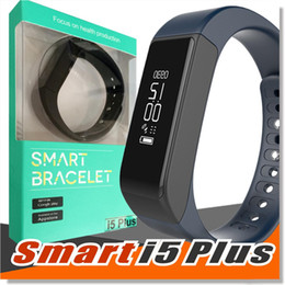 Wholesale I5 Gps - I5 Plus Smart Wristband Wrist Watches for Android IOS Waterproof Bluetooth for iPhone 6S 5S Samsung S6 S5 Note 5 Smart Sport Bracelet EJ-I5
