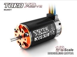 Wholesale Pole Car - Wholesale-Toro X8 V2 Brushless 6-Pole Sensorless Motor 1 8 RC Car Buggy 2100KV 7T