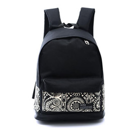 Wholesale Womens Backpack Fashion Bags Canvas - Wholesale- 5 Styles Hot Sale Womens Men Casual Girl School Backpack Fashion Canvas Double Shoulder Bag Rucksack Travel Bags 20305#