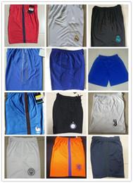 Wholesale Fitness Sweaters - 2017 new hot Thai quality shorts sweater men training shorts Ronaldo Bogba Higuain BALE ISCO football fitness shorts