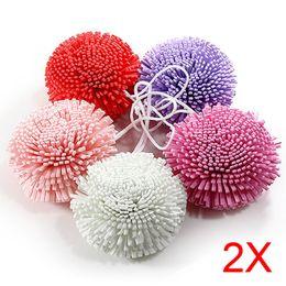 Оптово-2шт. Новая ванна / душ для тела отшелушивает Puff Губка Mesh EVA Красочные Ванна Ball TB Продажа cheap sale bath sponges от Поставщики губки для ванны