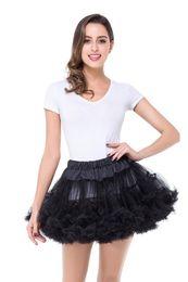 Wholesale Hot Pink Crinoline Petticoat - Hot Selling Multi Color Petticoats Tulle Underskirt Short Skirts for Wedding Dress Crinoline Jupon Saia Women Skirt In Stock