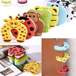 Wholesale Child Security Products - Wholesale- 5pcs lot door stops stopper for the baby protector safty security child kids safety children products securite enfant doorstop
