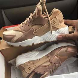 Wholesale Hotter Shoes For Women - Hot Sale Air Huarache Running Shoes For Men Women Rose Gold High Quality Sneakers Triple Huaraches Trainers huraches Sport Shoes