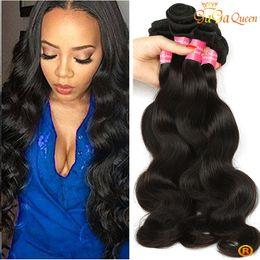 2019 remy indien bon marché Peruvian Body Wave Cheveux Bundles Brésilien Malaisien Indien Remy Vierge Cheveux Bundle 4 faisceaux Dyeable Cheap Human Weave remy indien bon marché pas cher