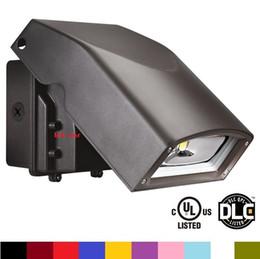 Jardín de montaje en pared online-Luz de paquete de pared UL DLC LED AC 110-277V 50W 80W LED montado en la pared de jardín de iluminación ajustable cabeza