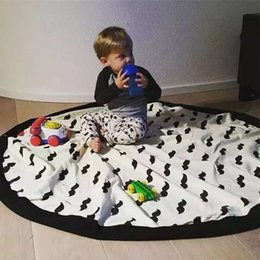 Wholesale Large Round Rugs - 140cm 55inch Big Size Large Storage Bags Toys Organizer Blanket Rug Boxes for Toys Kids Children Infant Baby Play Mat