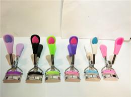 Wholesale Eye Curlers - Arrive Ladies Makeup Eye Curling Eyelash Curler with comb Eyelash Curler heart handle Clip Beauty Tool Stylish DHL free ship