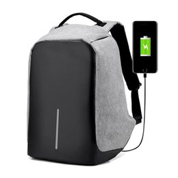 Wholesale Nylon School Bags Backpack - USB Charge Anti Theft Backpack Men Travel Security Waterproof School Bags College Teenage Male 15inch Laptop Backpack