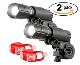 Ensemble de lumières de vélo étanche à l'eau en aluminium de 300 lumens (phare, feu arrière), paquet de 2 ? partir de fabricateur