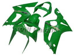 Wholesale Yellow Zx6r Fairing - Motorcycle Frame Injection Mold Complete Body Fairing Kit for ZX-6R ZX 6R 2003 2004 ZX6R 03 04 Glossy Green