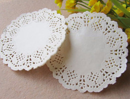 """Wholesale Cake Doilies - Wholesale-Free Shipping Creative Craft 4.5"""" Inch Round White Paper Lace Doilies Cake Placemat Party Wedding Gift Decoration 100pcs pack"""