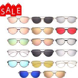 Wholesale Cheap Purple Coats - Fashion Sunglasses for Women Brand Designer Sunglasses Metal Frame UV Protection High Quality Cheap Sunglasses Coating Sun Glass DHL Free