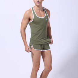 Wholesale Muscle Fit T Shirts - Wholesale- Sexy Men Vest Slim Fit Sleeveless Vest Tank Top Breathable Muscle T Shirts Hot