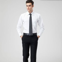 Wholesale Casual Slim Fitting Shirts Best - Solid color business leisure shirt slim fit men shirt fashion handsome wedding best man party tuxedos shirt long sleeve shirt