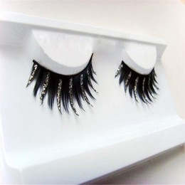 Wholesale Glitter Extensions - 1 Pair Natural Thick Glitter Eye Lashes Long Fake False Eyelashes Extension Beauty Makeup Accessory FM88