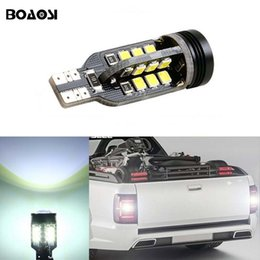 Wholesale Canbus Vw - BOAOSI Canbus T15 LED Reverse Lights W16W 2835SMD Car LED Backup Light Bulb For VW Tiguan Sharan Scirocco passat b7 Seat