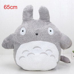 Wholesale adult figure anime - 65cm My Neighbor Totoro Stuffed Plush Toys Cartoon Cat Animal Toy Adult Children Kids Dolls Nice Gift