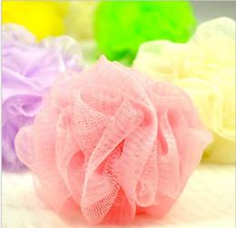 Wholesale Net Puffs Shower - Mini Bath Shower Body Exfoliate Puff Sponge Mesh Net Ball Bath Sponge Accessories random color DHL