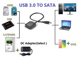 """Wholesale Ssd External Hard Drives - Universally USB 3.0 TO 2.5"""" 3.5"""" SSD HDD SATA 3 Data Cable Cord Wire For Hard Drive Internal to External"""