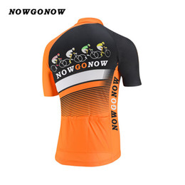 Wholesale Cycling Team Jerseys China - custom 2017 cycling jersey tour pro team clothing bike wear orange black NOWGONOW tops road mountain Triathlon CHINA summer Quick Dry