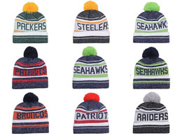 Wholesale Cheap Christmas Hats Wholesale - 2016 New Season American Beanies Football Teams Beanies Mens Sideline Sports Beanies Cheap men Women Knitted Hats Beanie caps Mixed orders