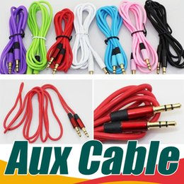 Wholesale Auxiliary Rca Cable - portable Aux Cable Auxiliary 3.5mm Male to Male Audio Cable 1.2M Stereo Car Extension Cable for Digital Device to any of your HiFi audio