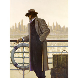Wholesale Canvas Pier - Handmade Impressionist Paintings Men arts by Brent Lynch oil canvas reproduction Port of Call and Pier High quality Wall decor