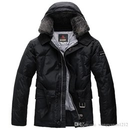 Wholesale Luxury Duck - Uomo Luxury Peuterey Men Down Coat Windbreaker Parka Male Fur Jacket Slim fit Real photos Super Quality