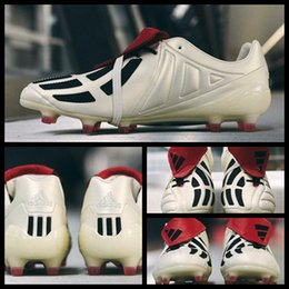 Wholesale Football Height - 2017 New Predator Mania Champagne FG Soccer Cleats Shoes Football Boots Sports Soccer Shoes Boot Soccers Boos Size 39-45 Free Shipping