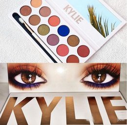 Wholesale Eye Shadow 12 - Kylie Jenner Makeup kylie royal Kylie Cosmetics Royal Peach Eyeshadow Palette Kyshadow 12 Colors Eye Shadow Kit With Brush