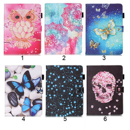 Wholesale air print apple - Owl Butterfly PU Leather Flip Case for New Ipad 2017 2018 ipad Pro 9.7 234 Air Air2 mini 1234 Case Stand Cover Case