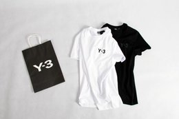 Wholesale Korean T Shirt Brands - Tide brand classic 3Y3 short-sleeved T-shirt summer hedge cotton round neck bottom Korean men and women wild collar shirt T shirt Kanye wes