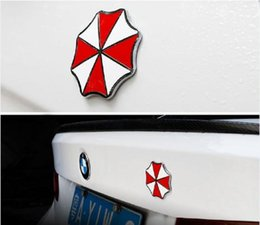 Wholesale Internal Covers - car-styling Accessories Umbrella Corporation 3D Aluminum Motorcycle Car Sticker For ford focus bmw mazda opel toyota car-cover