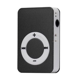 Wholesale Tf Media Card - HOT SALE Freeshipment Mini USB MP3 Music Media Player LCD Screen Support 16GB Micro SD TF Card Slick stylish design Sport Compact