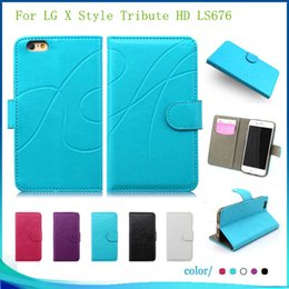 Wholesale Style Power Wallet - For LG X Style Tribute HD LS676 X POWER K210 K6P Leather PU Flip wallet Case pouch Cover inside with credit card Slots