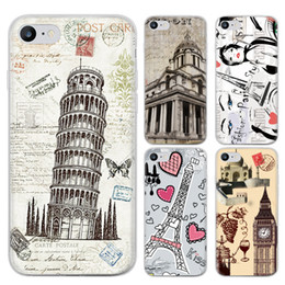 Wholesale Skin For Iphone Paris - Romantic Paris Series Phone Case For iPhone 7 iPhone 7 Plus Cute Cartoon High Quality Painted TPU Soft Silicone Skin Back Cover Shell