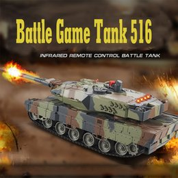 Wholesale Remote Controlled Robot For Kids - Wholesale- Mini 516 RC Tank Toys With Fighting Infrared Ray LED Remote Control Battle Tanks Model Outdoors Shoot Robot RC Toys for Kid Gift