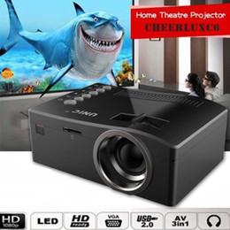 Wholesale Home Cinema Full Hd - Wholesale-Full HD 1080P Home Theater LED Multimedia Projector Cinema TV HDMI Black EU home projector hdmi projector SNS