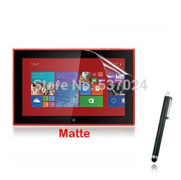 """Wholesale anti glare tablets - Wholesale-Matte Matted Anti-Glare Anti-Fingerprint Screen Protector Films Protective Film Guards +Stylus For Nokia Lumia 2520 10.1"""" Tablet"""