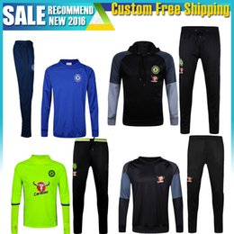 Wholesale Cheap Army Pants - Cheap Top A++ Thai Chandal Chelsea Training tracksuit 1617 Soccer Jersey Football Chelsea Tracksuit for Men Training Pants Soccer Jerseys